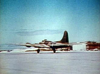 The Battle of Midway (film) - Image: Boeing B 17E taking off from Midway 1942
