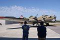 Boeing B-17G-85-DL Flying Fortress Nine-O-Nine Landing Taxi 35 CFatKAM 09Feb2011 (14960925276).jpg