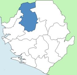 Location of Bombali District in Sierra Leone