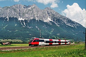 Bombardier Talent - ÖBB Class 4024 Talent train in the Enns Valley, Austria