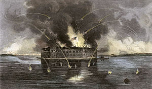 """The bombardment of Fort Sumter,"" en..."