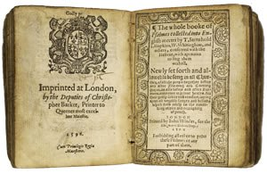 Book of common prayer 1596