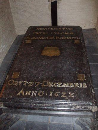 Pedro I Coloma, Baron of Bornhem - grave in the church of Bornem