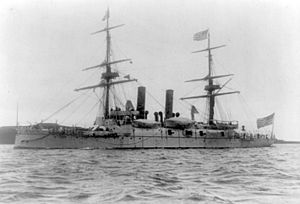 USS Boston (1884) - USS Boston c. 1891