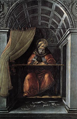 St Augustine in His Cell