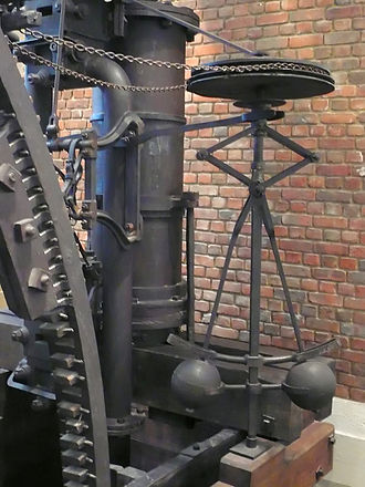 Control theory - Centrifugal governor in a Boulton & Watt engine of 1788