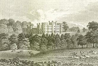 Bretby Hall - Bretby Hall ca 1850