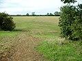 Bridleway crosses harrowed corn stubble - geograph.org.uk - 234106.jpg