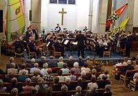 The Brighouse and Rastrick Band in der Brighouse Central Methodist Church, am 21. Juni 2008