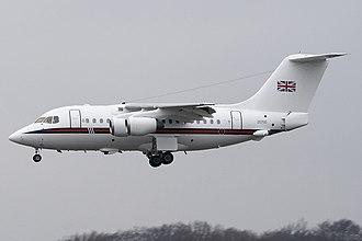 RAF Northolt - BAe 146 CC2 of No. 32 (The Royal) Squadron.