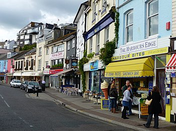 English: Brixham - Harbourside Shops These sho...