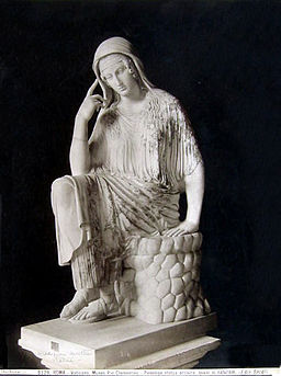 Brogi, Carlo (1850-1925) - n. 8329 - Roma - Vaticano - Museo Pio Clementino - Penelope - Statua arcaica, quasi al naturale