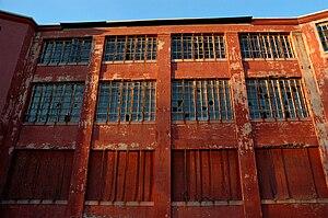 Broken windows theory - The broken windows of an abandoned hospital building in Northampton, Massachusetts