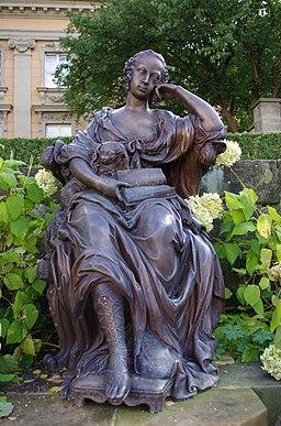Bronze statue Wilhelmine of Bayreuth
