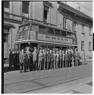 Brooke Bond - Bus advertisement for Brooke Bond in Oslo, Norway 1955