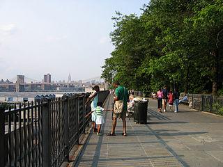 Brooklyn Heights Promenade New York City walkway