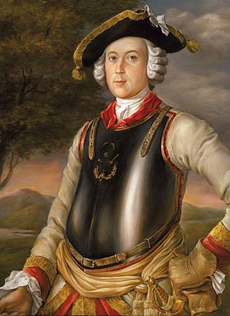 Baron Munchausen - The real-life Münchhausen circa 1740, as a Cuirassier in Riga, by G. Bruckner