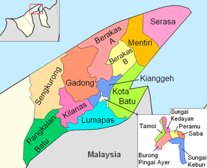 Mukims of Brunei - Mukims of Brunei and Muara district
