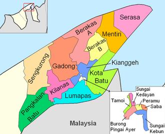 Mukims of Brunei - Mukims of Brunei and Muara district