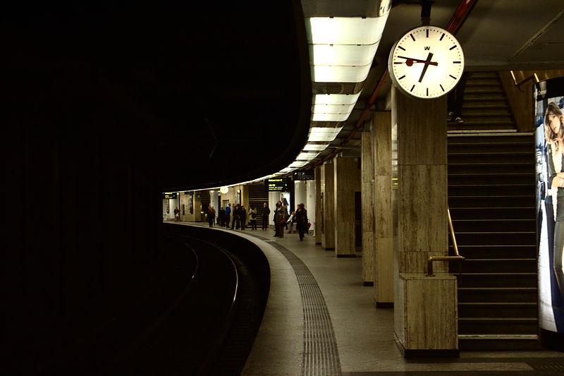 File:Brusel, Gare Centrale, nástupiště.jpg
