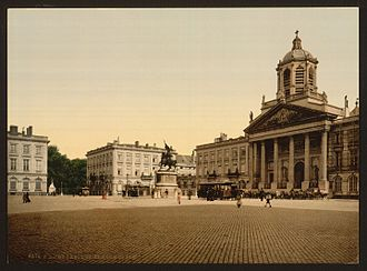 Brussels - Royal Square, late 19th century