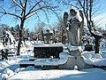 Bucuresti, Romania, Cimitirul Bellu Catolic (Ingerul in iarna 2015)(3) B-IV-a-B-20118.JPG