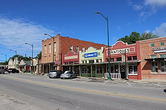 Buda, Texas - Some of the shops along Main Street.