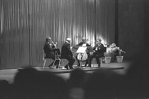 Budapest String Quartet - Budapest String Quartet at Fredric R. Mann Auditorium, Tel Aviv, 1961