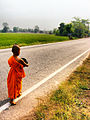 Buddhist child monk in Wat Khung Taphao.jpg