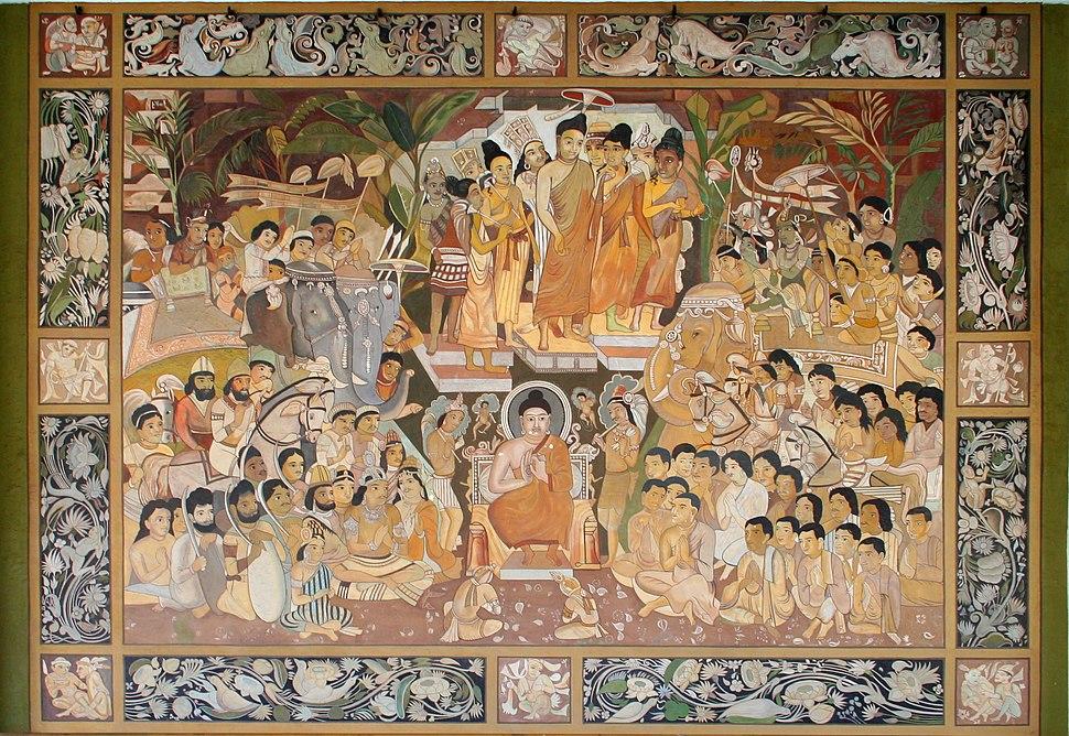 Buddhist mural, Albert Hall Museum, Jaipur