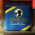 Bugler tin cigarette case, Museum Winter 1944 in Gingelom.JPG