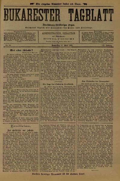 File:Bukarester Tagblatt 1901-04-11, nr. 081.pdf