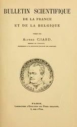 Bulletin biologique de la France et de la Belgique