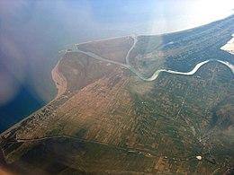 Vista della foce del Boiana nell'Adriatico.