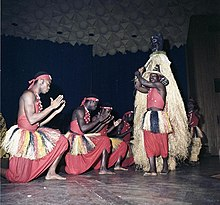 Dancers of Les Ballets Africains in Bonn, Germany, 1962