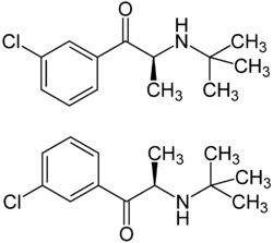 Bupropion-Enantiomers Structural Formulae.png