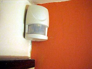 English: Picture of a burglar alarm detection ...