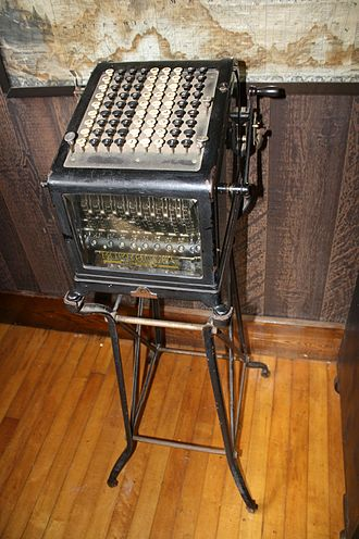 Burroughs Corporation - An early Burroughs adding machine