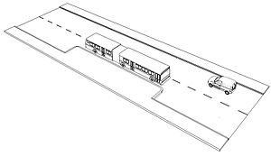 Bus bulb - A schematic drawing of a bus bulb.