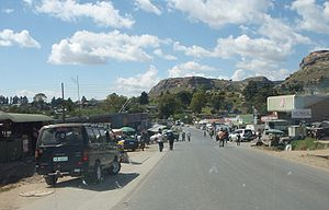 Main Street of Butha-Buthe