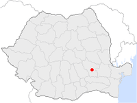 Location of Buzău