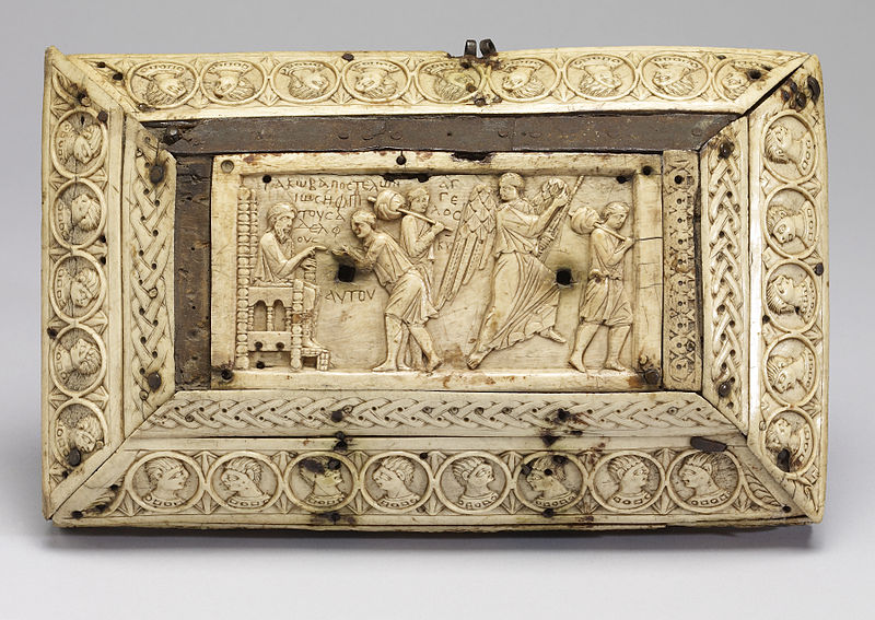 File:Byzantine - Box with Scenes from the Fall of Adam and Eve and the Story of Joseph - Walters 71295 - Top.jpg