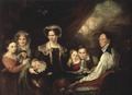 C.J. Lagercrantz, Assessor, and his Family (Gustaf Wilhelm Finnberg) - Nationalmuseum - 23727.tif