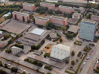 University of Kiel - Aerial view of the central campus