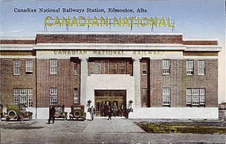 CN Tower (Edmonton) - Former railway station that was demolished to make way for the tower.