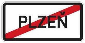 Town sign - Image: CZ IS12b Konec obce