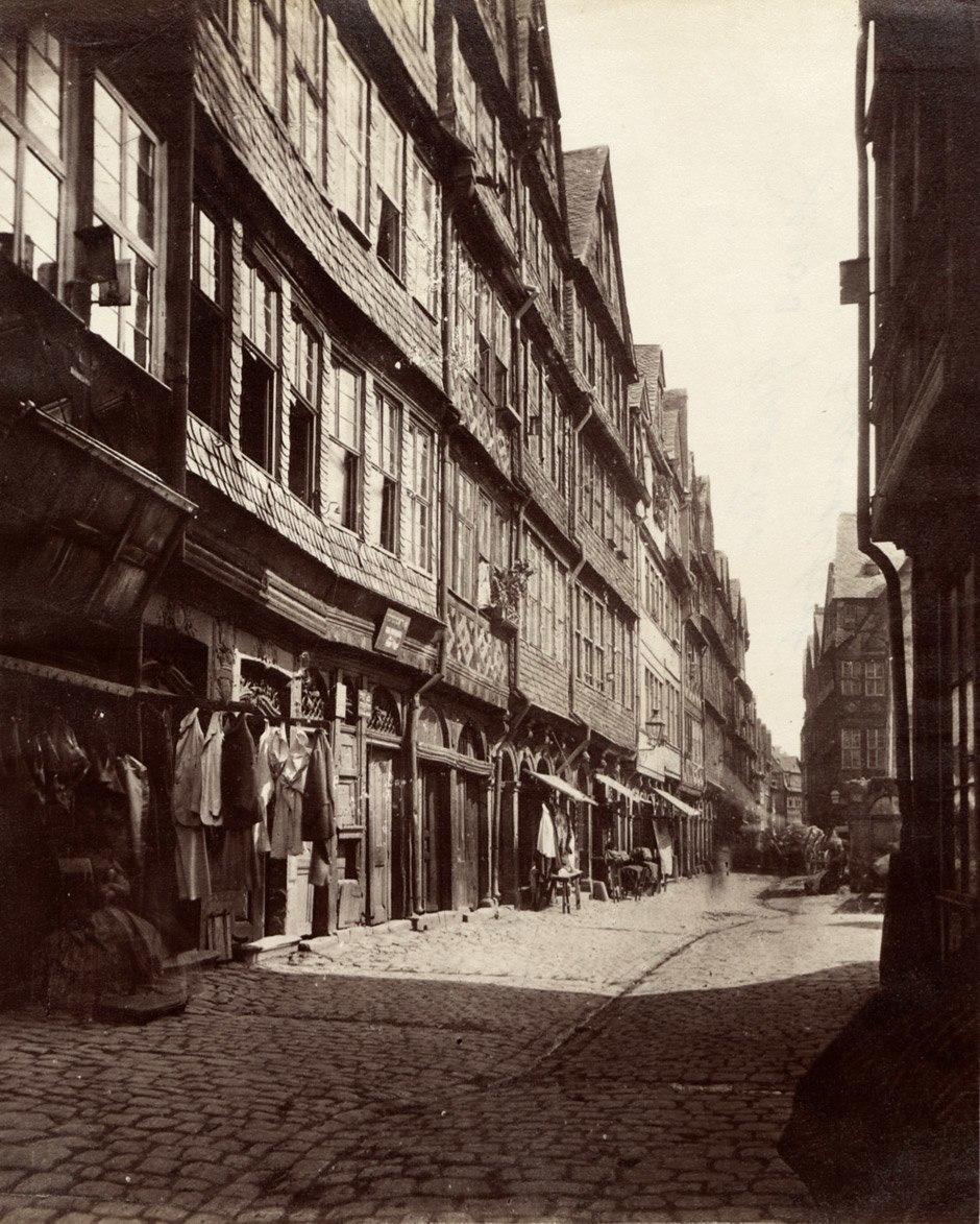 C F Mylius Frankfurt Judengasse c1870