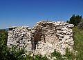 Cabanon pointu en ruines entre l'Hospitalet et Lardiers.jpg
