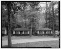 Cabin panorama. Looking S. Abuts -4. - Colonel's Creek Campground, 7000 Chambersburg Road, Fayetteville, Franklin County, PA HAER PA-596-5.tif