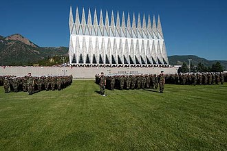 Walter Netsch - Netsch was the chief architect for the U.S. Air Force Academy, including the distinctive Cadet Chapel, seen here